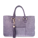 Shopping Handbag from our Moira collection in Calf leather and Purple color