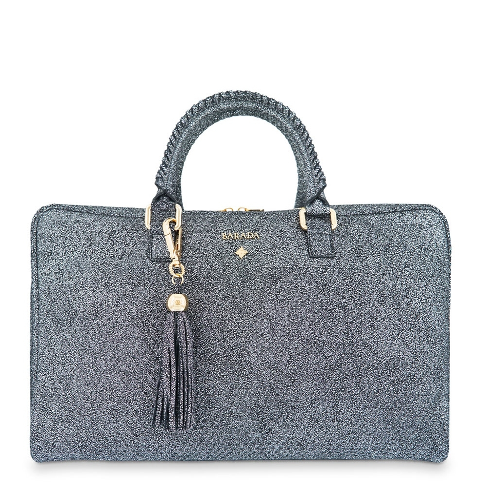 Briefcase from our Moira collection in Calf leather and Black color