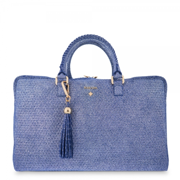 Briefcase from our Moira collection in Calf leather and Blue color