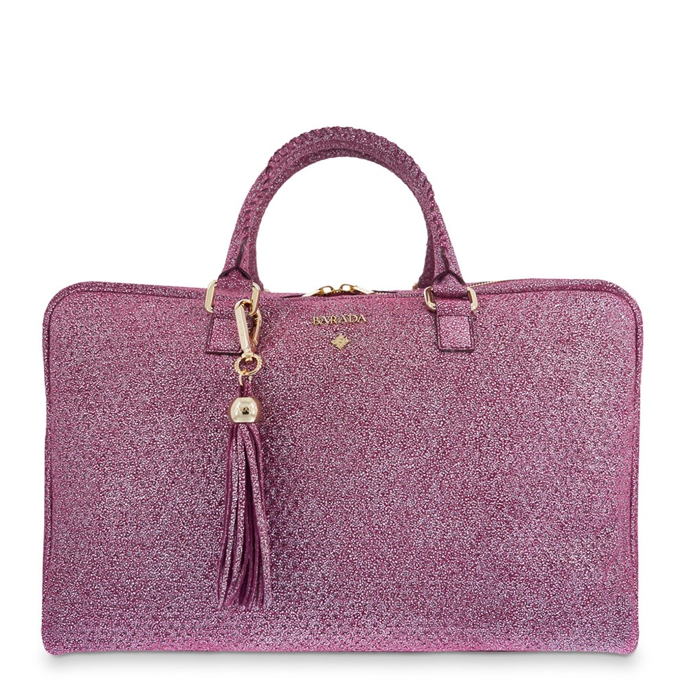 Briefcase from our Moira collection in Calf leather and Red color