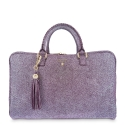 Briefcase from our Moira collection in Calf leather and Purple color