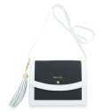 Crossbody Bag from our Navy collection in Calf leather and Black and White color