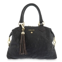 Bowling Bag from our Minerva collection in Lamb skin and Brown color