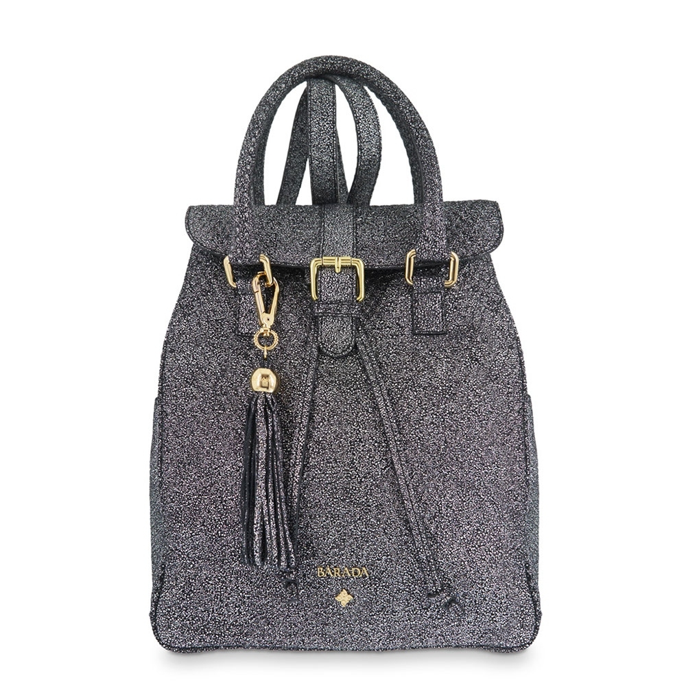 Backpack from our Breena collection in Calf leather and Black color