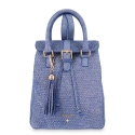 Backpack from our Breena collection in Calf leather and Blue color