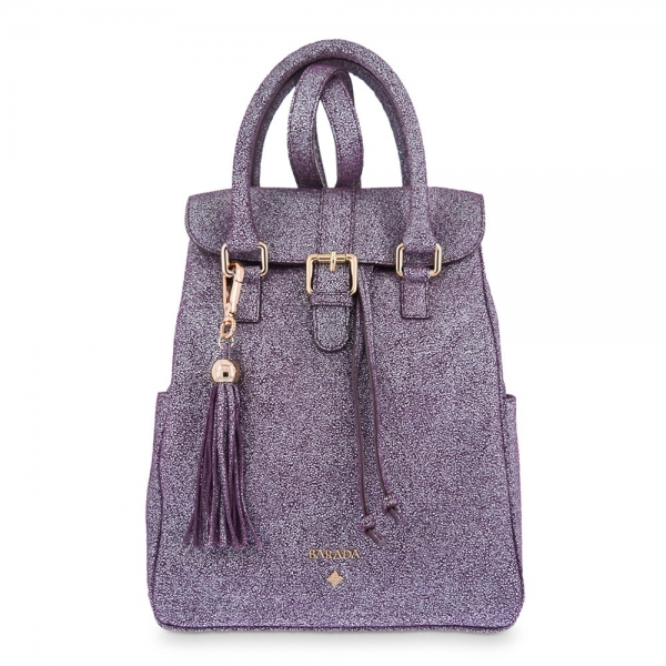 Backpack from our Breena collection in Calf leather and Purple color
