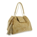 Satchel Handbag from our N02 collection in Calf leather and Tan color