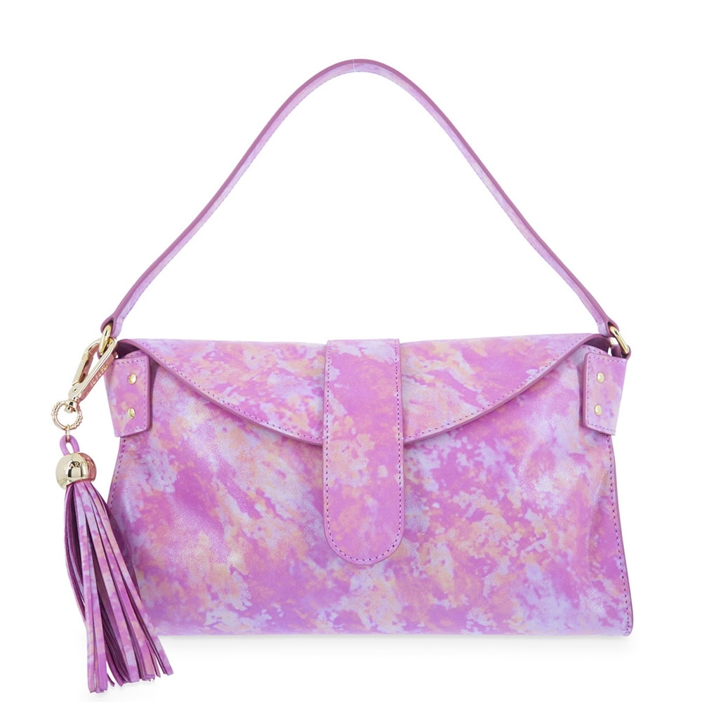 Envelope Shoulder Bag from our N04 collection in Calf leather and Fucsia Pink color
