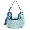 Shoulder Bag from our Duende Mini collection in Calf leather and Tiffany Blue color