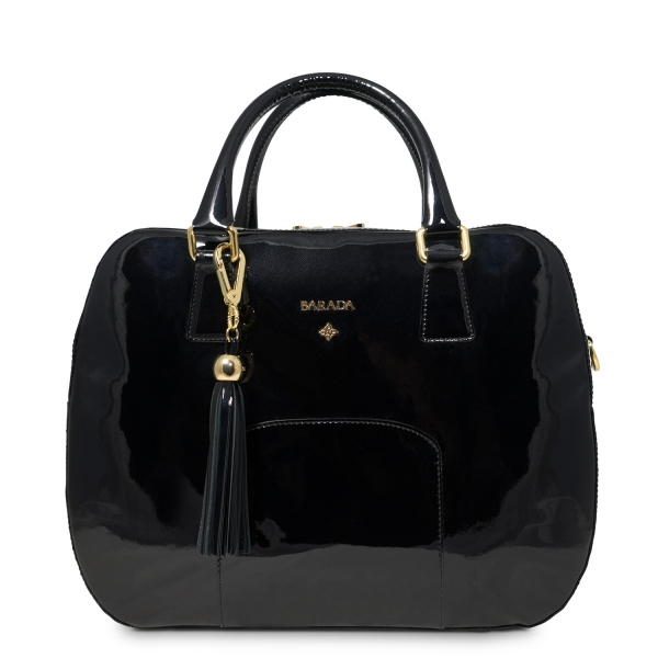 Handbag Morgana Collection in Patent Calf Leather