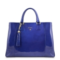 Shopping Bag -Tote Morgana Collection in Patent Calf Leather