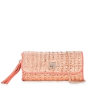 Clutch Handbag from our Fiesta collection in Lamb Skin (fantasy engraved) and Cooper color