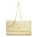 Clutch Handbag from our Amatista collection in Lamb Skin and Golden color