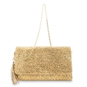Clutch Handbag from our Amatista collection in Lamb Skin (fantasy engraved) and Golden color