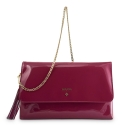 Clutch Handbag from our Amatista collection in Patent Calf Leather and Viola color