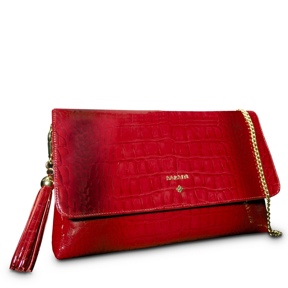 cc996f0fdf0a77 Chanel Red Quilted Patent Leather WOC Clutch Bag. nextprev. prevnext.  Clutch Handbag from our Amatista collection in Patent Calf Leather and Red  color