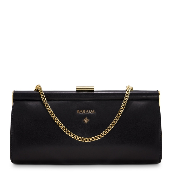 Clutch Handbag from our Amatista collection in Nappa and Black color