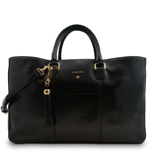 Shopping Handbag from our Moira collection in Veg Tan and Black color