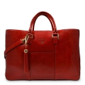 Shopping Handbag from our Moira collection in Veg Tan and Red color