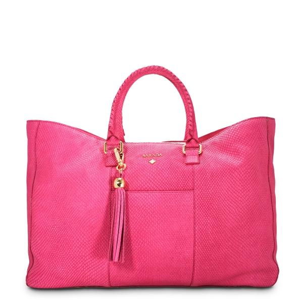 Bolso Tote/Shopping de la colección Moira en Piel Vacuno acabado Nubuck y color Rosa
