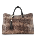 Shopping Handbag from our Moira collection in Lamb Skin (grainy finish) and Brown color