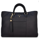 Shopping Handbag from our Moira collection in Calf Leather (Antelope finish) and Black color