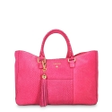 Shopping Handbag from our Moira collection in Nubuck fisnished Calf Leather and Pink color