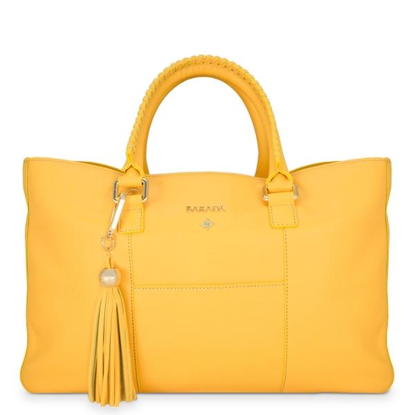 Bolso Tote/Shopping de la colección Moira en Vacuno (efecto Antílope) y color Amarillo