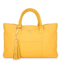 Shopping Handbag from our Moira collection in Calf Leather (Antelope finish) and Yellow color