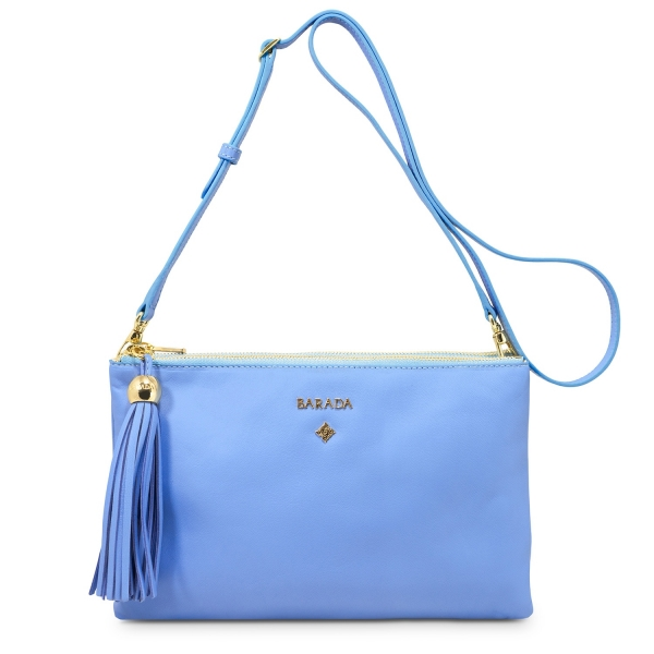 Crossbody Duo Pouch Shiva Collection In Nappa Leather