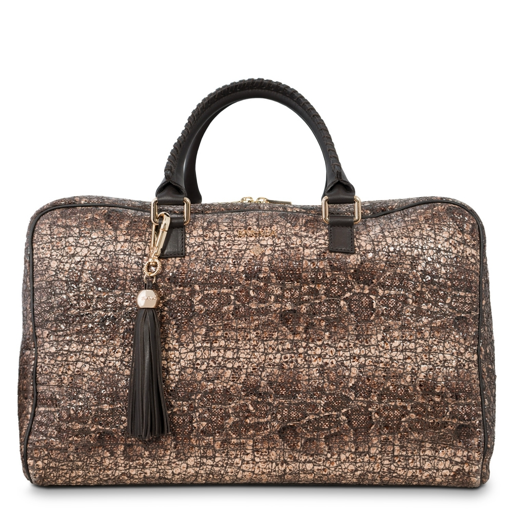 Briefcase from our Moira collection in Lamb Skin (grainy finish) and Brown color