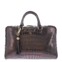 Briefcase from our Moira collection in Calf Croc print metallic finishing and Cooper color