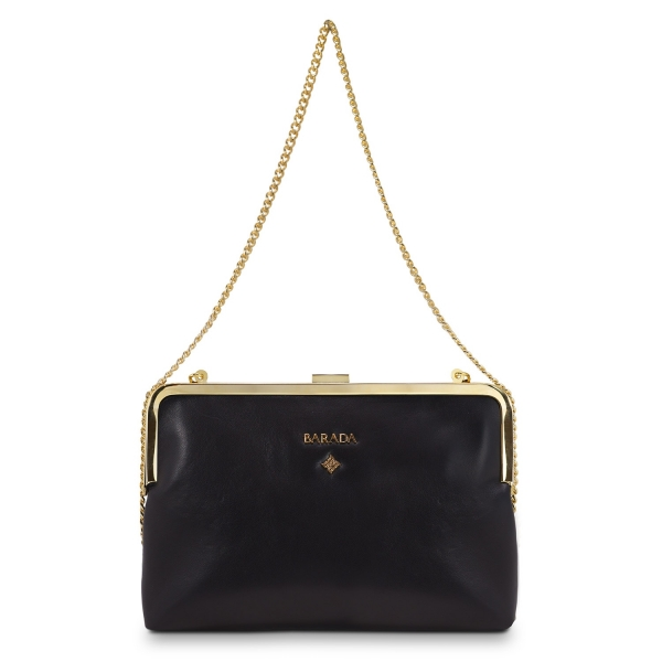 Clutch Handbag from our Dama Blanca collection in Nappa and Black color