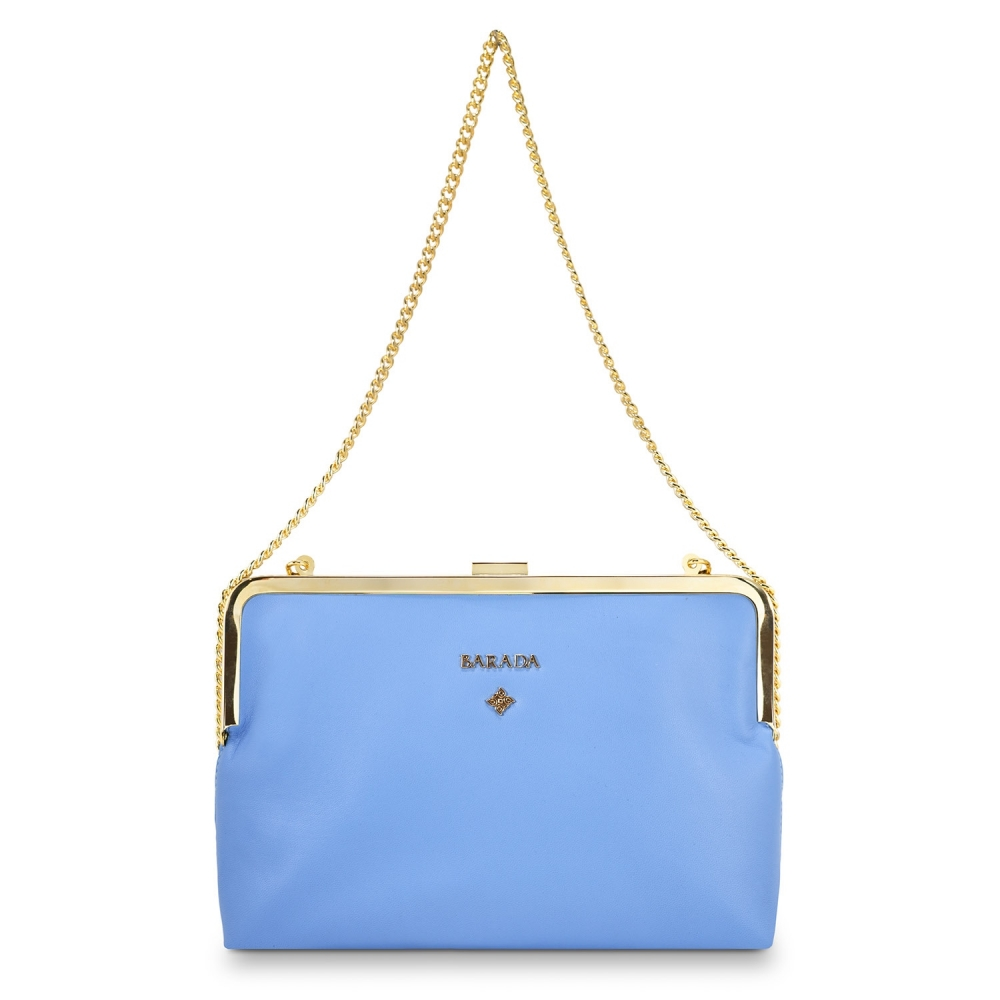 Clutch Handbag from our Dama Blanca collection in Nappa and Blue color