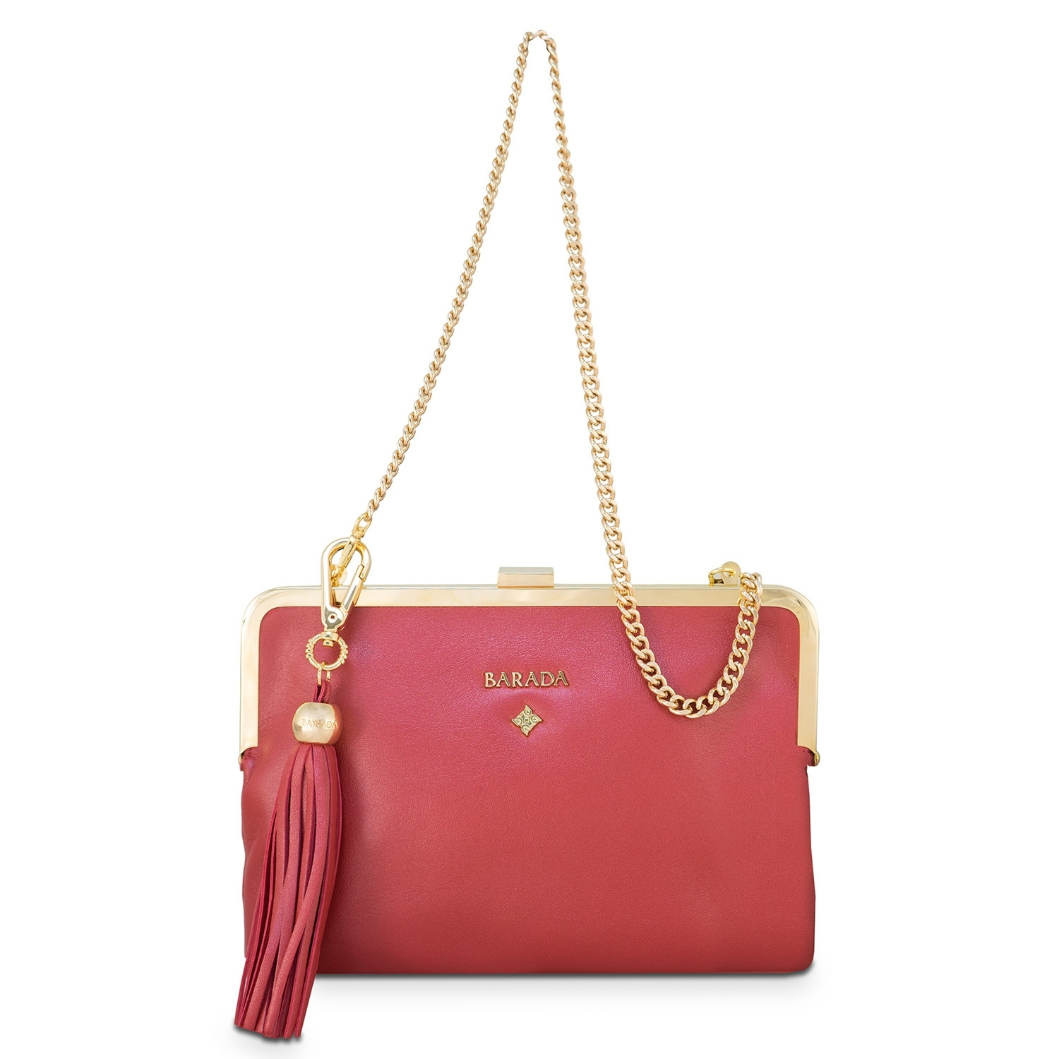 e855e46d8cf3 Clutch Handbag from our Dama Blanca collection in Nappa and Red color.  Loading zoom