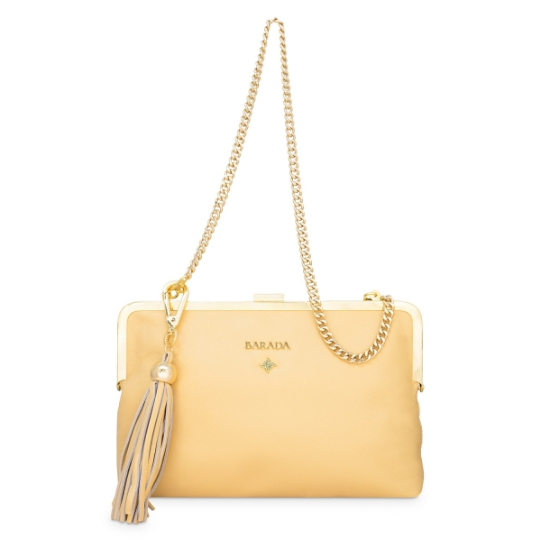 Clutch Handbag from our Dama Blanca collection in Nappa and Golden color
