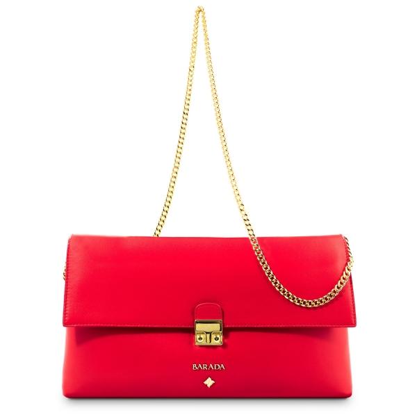 Bolso Clutch de la colección Dama Blanca en Napa y color Rojo