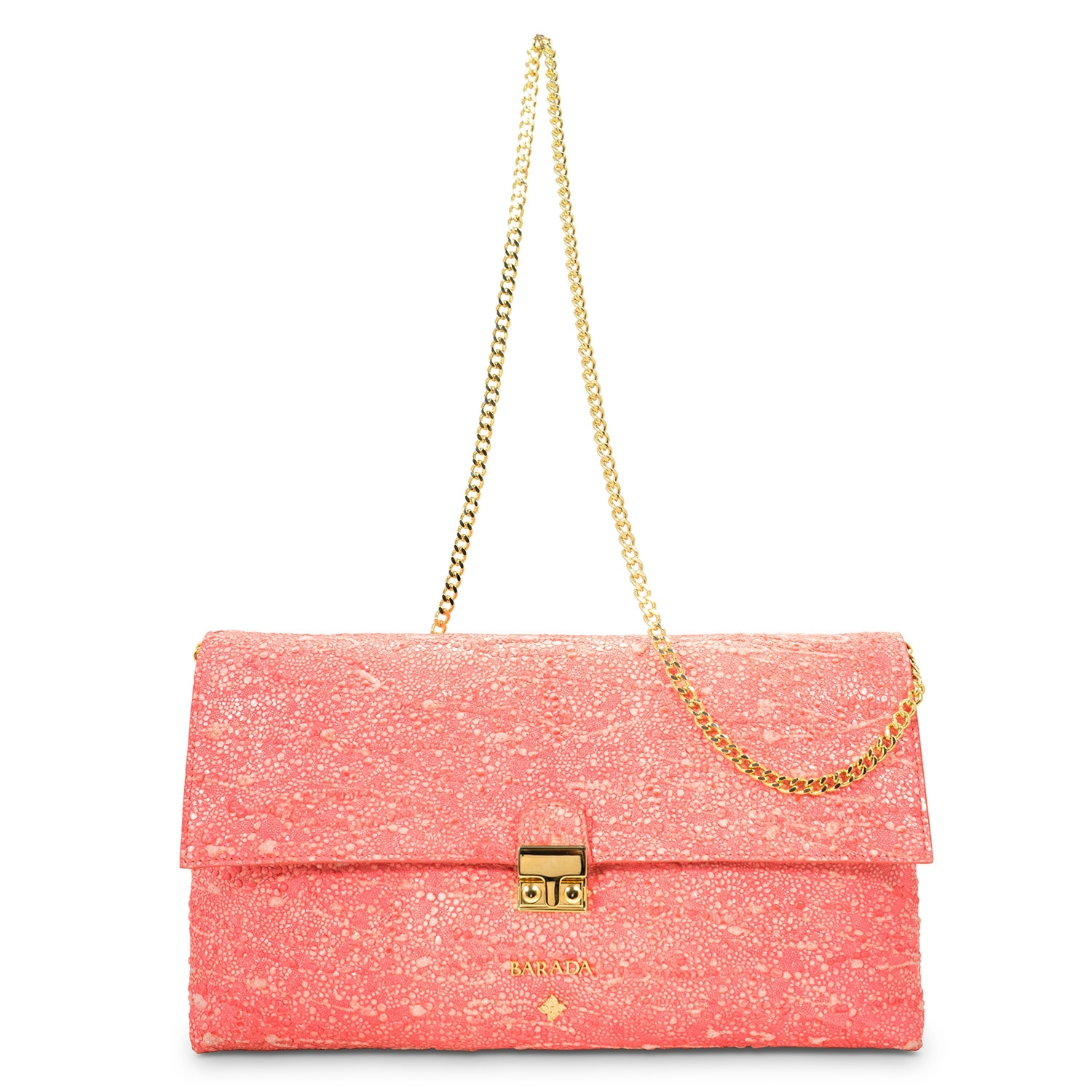 0a0555f1d794 Clutch Handbag from our Dama Blanca collection in Lamb Skin and Salmon color.  Loading zoom