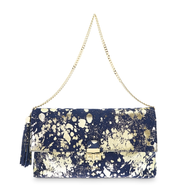 Clutch Handbag from our Dama Blanca collection in Calf leather and Blue color