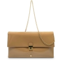 Clutch Handbag from our Dama Blanca collection in Patent Calf Leather and Nude color
