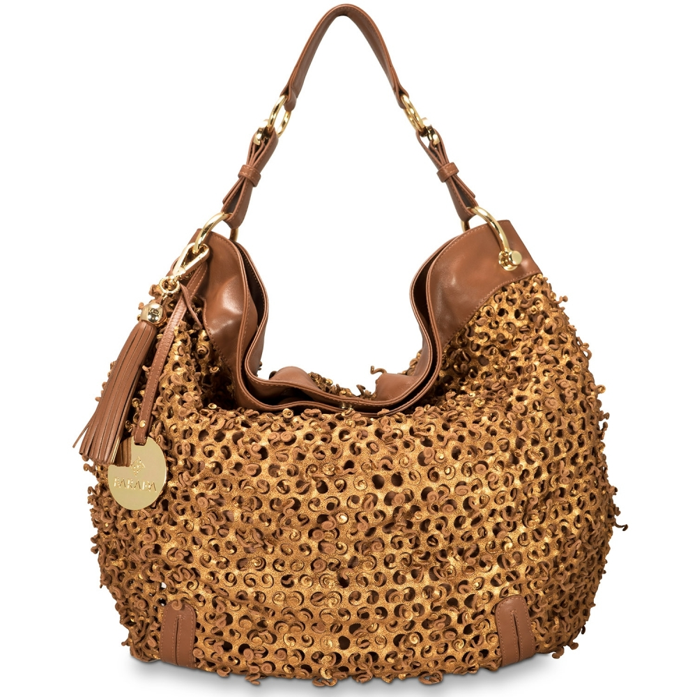 Shoulder bag from Duende collection in Calf leather and Golden color