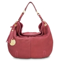 Shoulder bag from Duende collection in Calf Leather (Nubuck finish) and Burgundy color