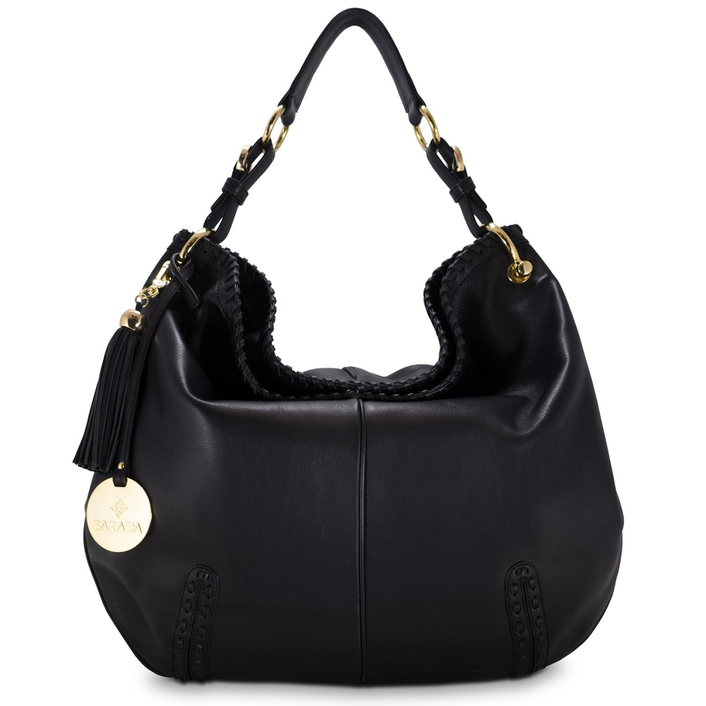 Shoulder bag from Duende collection in Calf leather and Black color