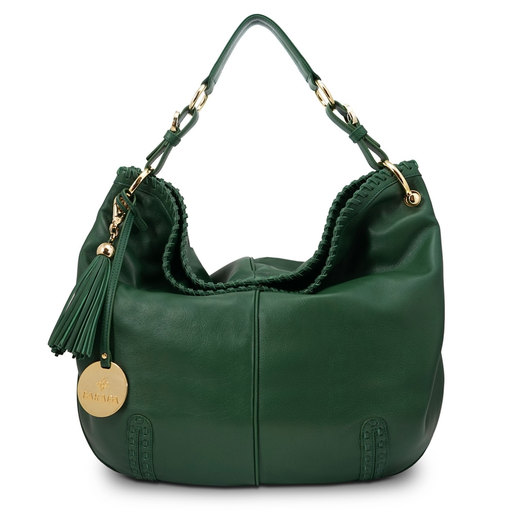 Shoulder bag from Duende collection in Calf leather and Green color