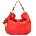 Shoulder bag from Duende collection in Calf leather and Coral color