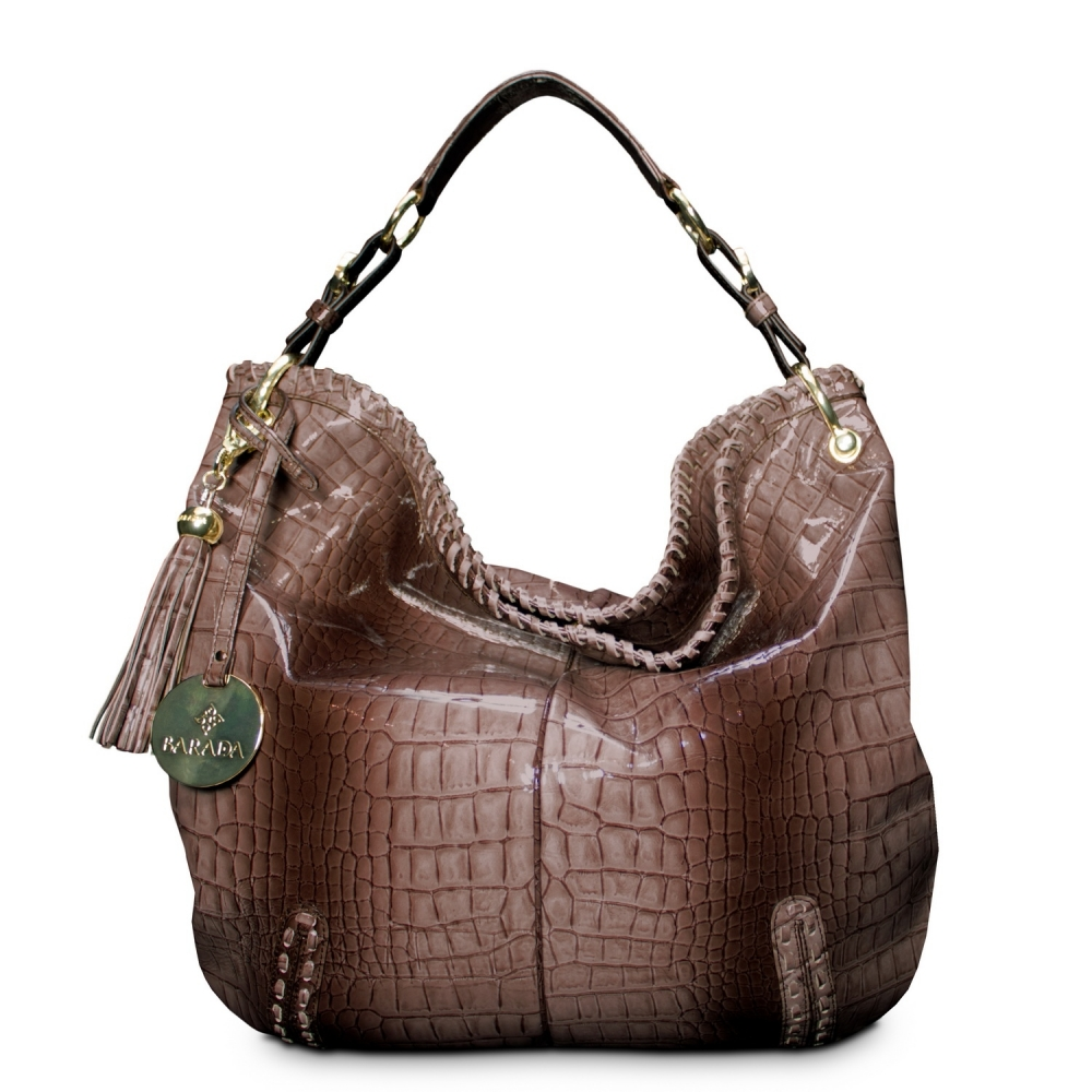 Shoulder bag from Duende collection in Calf Leather (Snake print)  and Taupe color