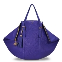 Shopping bag from our Rocío collection in Calf leather and Blue color