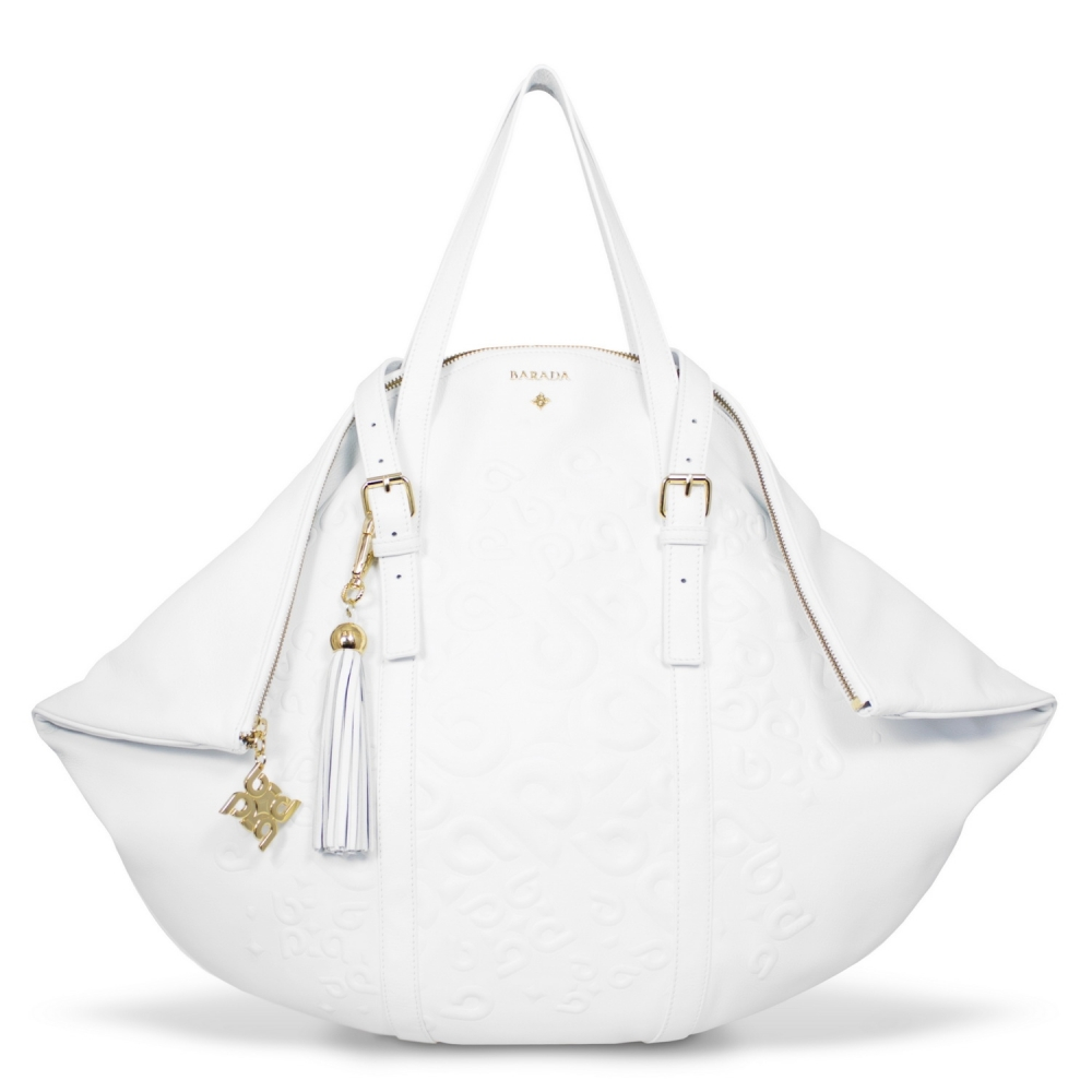 Shopping bag from our Rocío collection in Calf leather and White color