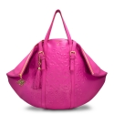Shopping bag from our Rocío collection in Calf leather and Pink color