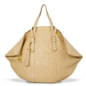 Shopping bag from our Rocío collection in Calf leather and Nude color